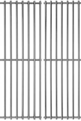 Hisencn Stainless Steel Cooking Grids Grates Grill Grid Replacement for Thermos Grill Parts 461252605, Kirkland Front Avenue 463230703, Charbroil 463261306, Kenmore, Master Chef, BBQ Pro, 16 5/8 inch