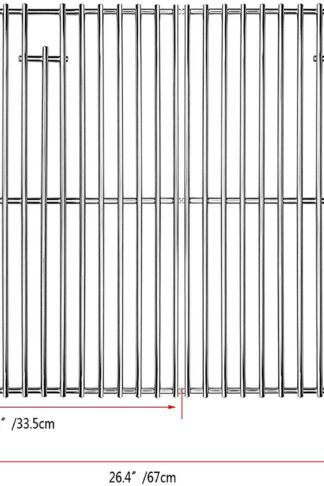 Uniflasy 17 Inches Cooking Grates for Home Depot Nexgrill 720-0830H Gas Grill, Stainless Steel Grill Cooking Grids, 2 Pack