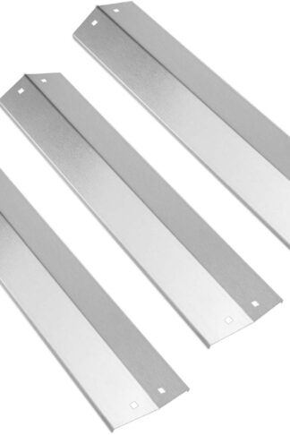 Uniflasy 18 15/16 Inch Grill Heat Plates, Heat Shield Tent, Burner Cover, Flame Tamer Replacement for Chargriller 3001 3008 3030 4000 5050 5252, King Griller 3008 5252 Grill Models, Stainless Steel