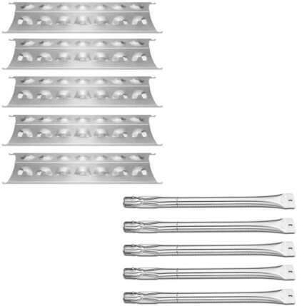 Uniflasy Gas Grill Burner, Heat Plate Tent Flame Shield Replacement Parts Kit for Kenmore 2518SL-2003-N, 148.1637110, 148.1615621, Master Chef L3218, Master Forge 3218LT, 3218LTM, 3218LTN, 2518-3