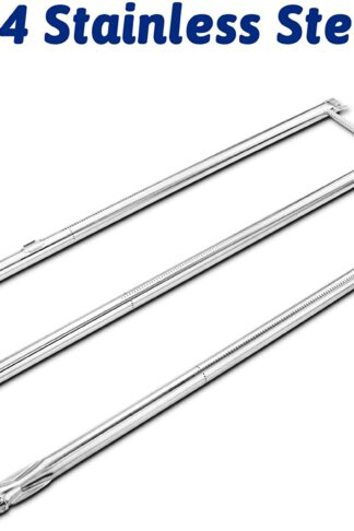 Utheer 67722 Grill Burner Tube 34-1/4 Inches for Weber Genesis 300 Series E310 E320 EP310 EP320 S310 S320 (Model Years 2007 to 2010), Replaces Weber 67722 67820, 304 Stainless Steel