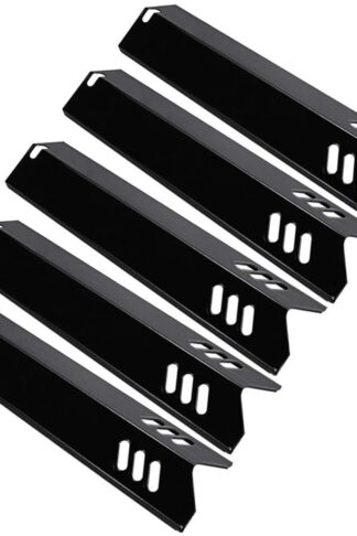 Utheer Grill Heat Plates Shield, Burner Cover, Flame Tamer 15 Inch Backyard BY13-101-001-13, Dyna-Glo DGF510SBP, DGF510SSP, Uniflame GBC1059WB, BHG, Porcelain Steel Grill Parts Replacement, 5 Pack
