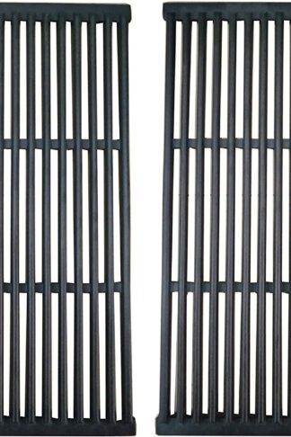 BBQration Cast Iron Cooking Grid for Brinkmann 810-2310-0, 810-2310-1, Charbroil and Charmglow Grills,Set of 2