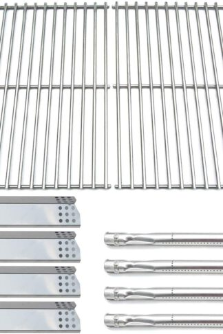 Direct Store Parts Kit DG145 Replacement Sunbeam, Nexgrill, Grill Master 720-0697 Gas Grill Parts Kit (Stainless Steel Burner + Stainless Steel Heat Plate + Solid Stainless Steel Cooking Grid)