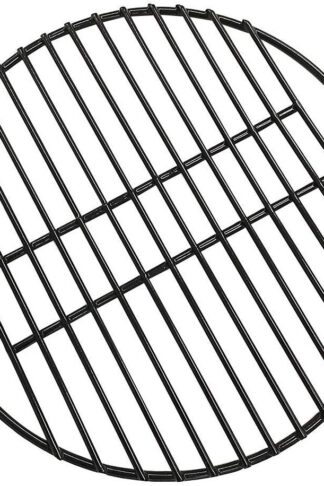 "Dracarys 15"" Porcelain Coated Steel Grill Grates Enamel Cooking Grate,Big Green Egg Accessories Grill Accessories Dome Grill Grate Grid for Medium Big Green Egg Kamado Stove and Other 15 inch Grills"