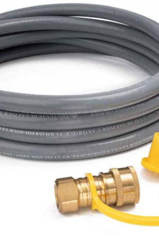 GASPRO 12FT Natural Gas Hose, 3/8 Inch Propane/Natural Gas Quick Disconnect Kit for Low Pressure Appliance, CSA