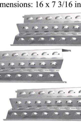 GasSaf Grill Heat Plates Stainless Steel Heat Shield Vaporizor Bar Replacement for Perfect Flame 3019L, 3019-L, 3019LNG, 3019-LNG From (16'' × 7 3/16'') (3-Pack)