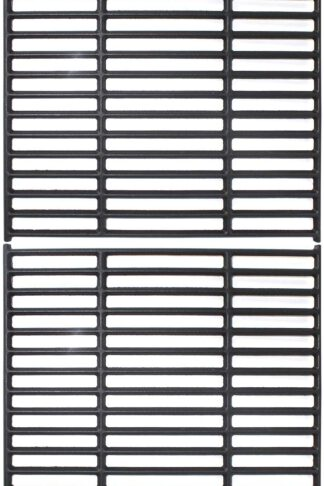 Grillflame 15 Inch Grates for Broil King 9865-54, 9453-54, 9453-57, 9453-64, Crown 10, 20, 40, 90 (2008 and Newer Models), Signet 20, 70, 90 (2007 and Newer), Matte Enamel Cast Iron Grates