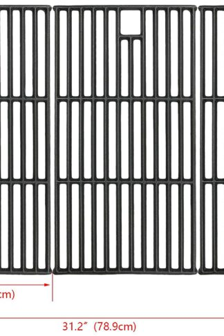 Hisencn Grill Grate Cast Iron Cooking Grid Replacement Parts for Brinkmann 810-8501, Charmglow, Costco Kirkland, Jenn Air 720-0337, Members Mark, Nexgrill, Perfect Flame Gas Grill Models, 19 1/4""