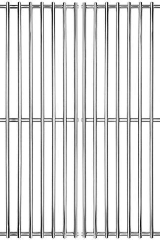 "Hongso 16 5/8"" SUS 304 Stainless Steel Grill Grid Cooking Grate Replacement for Thermos Grill Parts 461252605, Kirkland Front Avenue 463230703, Charbroil 463261306, Kenmore, BBQ Pro SCB932(2-Pack)"