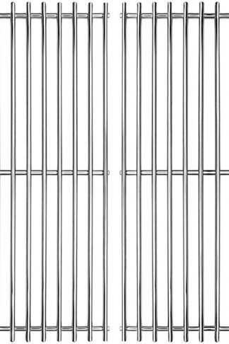 "Hongso 17"" SUS 304 Stainless Steel Cooking Grid Grates Replacement for Charbroil 463250509, 463250510, Great Outdoors, Thermos 461262409, Vermont Castings Gas Grill SCA022, Set of 2"