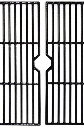Hongso 19 1/4 Inch Porcelain Cast Iron Grill Grate Cooking Grid Replacement for Charmglow 810-7450-S, 810-8530-F/S, Nexgrill 720-0511 20-0336, Aussie, Kenmore, Jenn-Air, Weber Genesis Series, PCB152