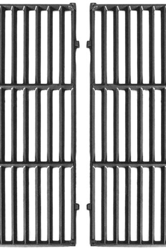 "Hongso 7524 Cast Iron Cooking Grid Grates Replacement for Weber Genesis E/S, 300 Series Gas Grill 7528, (19.5"" x 13""), 2-Pack, PCG524"