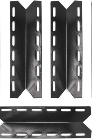Hongso PPB341 (5-Pack) BBQ Gas Grill Porcelain Steel Heat Plates, Heat Shield, Heat Tent, Burner Cover, Vaporizor Bar, and Flavorizer Bar Replacement for Charmglow, Nexgrill, Perfect Flame(17 5/16)