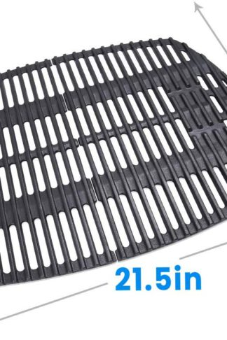 Hosom 7645 Cast-Iron Cooking Grates for Weber Q200, Q2000 Series, Q2400 Grill Parts Grill Grates Replace Weber 7645 Models-PCG02 (Set of 2, 21.5'' x 15.3'' for Total)