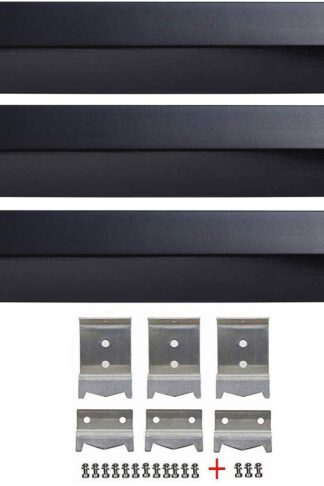 Htanch PN5051(3-Pack) S5050(3-Pack) Porcelain Steel Heat Plates and Screws Hanger Brackets Replacement for Chargriller 3001, 3008, 3030, 4000, 4208, 5050, 5072, 5252, 5650, King Griller 3008 5252