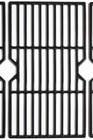 "Mr. KAN 16 7/8"" Porcelain Coated Cast Iron Cooking Grill Grates Fits for Charbroil 463436213, 463436214, 463436215, 463440109, 463420508, 463420509, 463441312, 463441514, Thermos 461442114, 3-Pack"