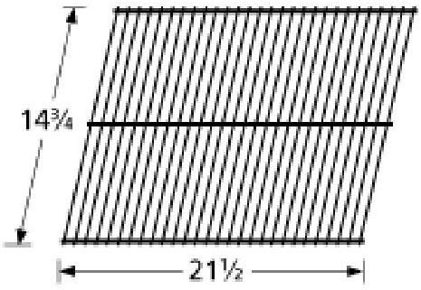 Music City Metals 92401 Steel Wire Rock Grate Replacement for Select Gas Grill Models by Charmglow, Great Outdoors and Others