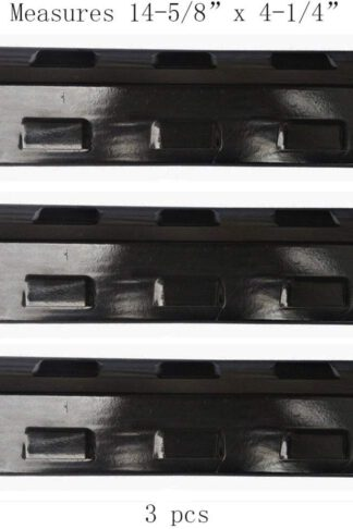 PP8531(3-pack) Porcelain Steel Heat Plate for Select Gas Grill Models By Charbroil, Kenmore, Grill King and Others