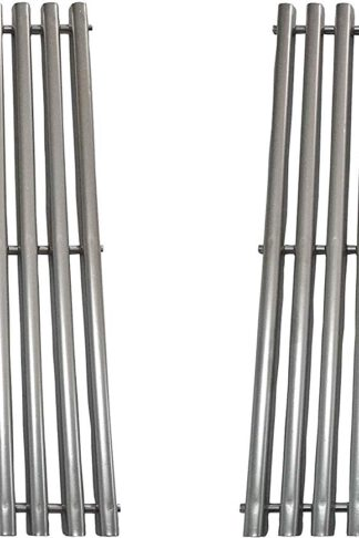 "Replace parts Stainless Steel Cooking Grid Replacement for Weber Spirit 300 Series, Genesis Silver B/C, Gold B/C, Genesis 1000-3500, Replacement for Weber 7638 (17.5"" x 11.9"") Set of 2"