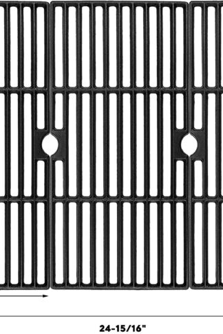 Uniflasy Cast Iron Cooking Grid Grates for Charbroil Advantage 463343015, 463344015, 463344116, Kenmore, Broil King and Others Gas Grill Models, G467-0002-W1, 16 15/16 Inches, Set of 3