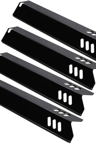 Utheer Grill Heat Plates Shield, Burner Cover, Flame Tamer 15 Inch Backyard BY13-101-001-13, Dyna-Glo DGF510SBP, DGF510SSP, Uniflame GBC1059WB, BHG, Porcelain Steel Grill Parts Replacement, 4 Pack