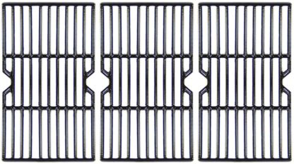 """VICOOL 16 15/16"""" Grill Grate Porcelain Coated Cast Iron Cooking Grid for Charbroil 463343015, Kenmore, Broil King, Master Chef Gas Grill Models, G467-0002-W1, Set of 3, HyG612C"""