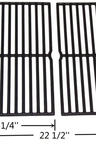 "VICOOL Cast Iron Grill Grates 7522 7523 7521 65904 65905 Replacement for Weber Spirit 200 Series, Spirit 500, Genesis Silver A Gas Grills, Set of 2 (15"" x 11.25"" Each), HyG752B"