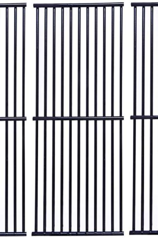 Votenli P6876C (3-Pack) Porcelain Steel Cooking Grid Replacement for Charbroil, Kenmore and Others(16 7/8 X 9 5/16)