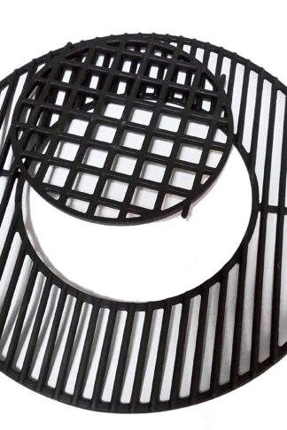 "soldbbq Enameled Cast-Iron Gourmet BBQ System Grate Replacement for 22.5"" Weber Charcoal Grills, for Weber 8835"