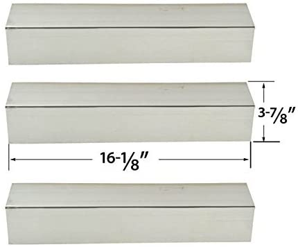 3 PACK Replacement Stainless Steel Heat Shield for North American Outdoors, Backyard Grill, Kenmore 119.16433010, Perfect Flame SLG2007A, 61701 and BBQTEK GSF2818K, Gas Grill Models