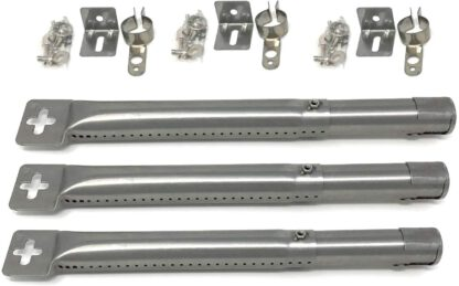 """Grill Parts Gallery 42204 Universal Adjustable 12"""" to 17-1/2"""" Stainless Steel Tube Burner (3-Pack)"""