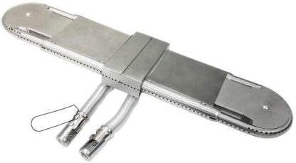 """Grill Parts Gallery Large Adjustable L 15""""x 22.25""""x W 4.3"""" Oval Tube Burner"""