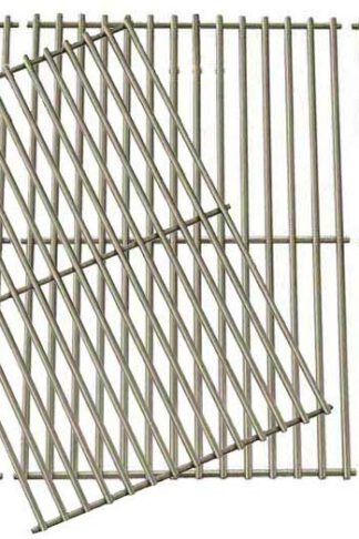Grill Parts Gallery Stainless Steel Coking Grates for Select Brinkmann 810-1525-0, 810-3660-S, 810-3661-F, 810-6631-F, 810-6680-S, 810-7541-B, 810-7541-W, 810-8445-F, 810-8445-N Gas Models, Set of 4