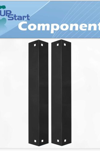 2-Pack BBQ Grill Heat Shield Plate Tent Replacement Parts for Chargriller 4208 - Compatible Barbeque Porcelain Steel Flame Tamer, Guard, Deflector, Flavorizer Bar, Vaporizer Bar, Burner Cover