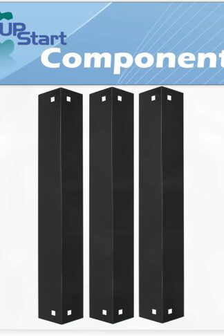 3-Pack BBQ Grill Heat Shield Plate Tent Replacement Parts for Chargriller 3008 - Compatible Barbeque Porcelain Steel Flame Tamer, Guard, Deflector, Flavorizer Bar, Vaporizer Bar, Burner Cover