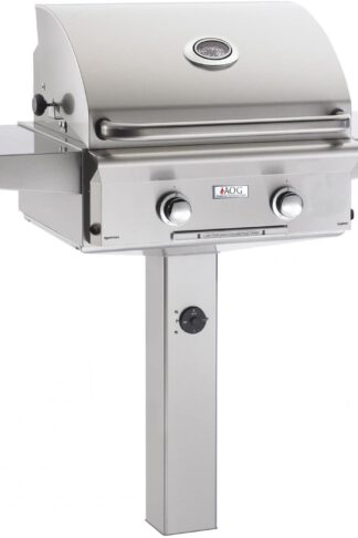 AOG American Outdoor Grill 24PGL-00SP L-Series 24 Inch Propane Gas Grill On In-Ground Post