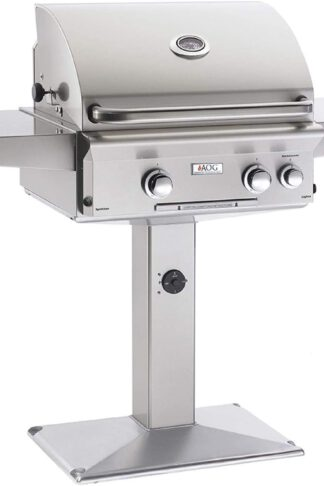 AOG American Outdoor Grill 24PPL L-Series 24 Inch Propane Gas Grill On Pedestal Base with Rotisserie