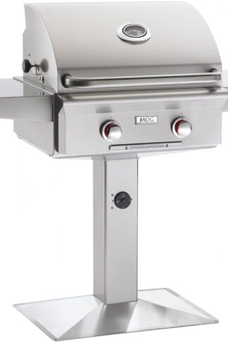 AOG American Outdoor Grill 24PPT-00SP T-Series 24 Inch Propane Gas Grill On Pedestal