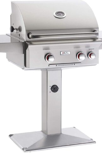 AOG American Outdoor Grill 24PPT T-Series 24 Inch Propane Gas Grill On Pedestal Base with Rotisserie