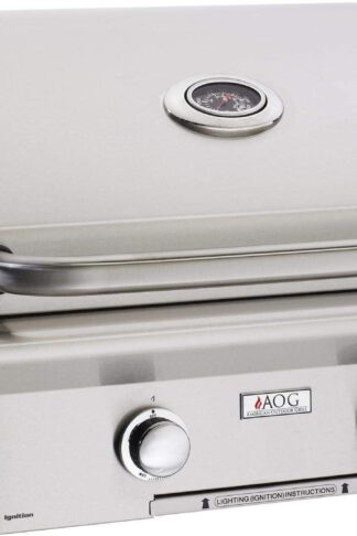 AOG American Outdoor Grill L-Series 24-Inch 2-Burner Built-in Natural Gas Grill with Rotisserie - 24NBL