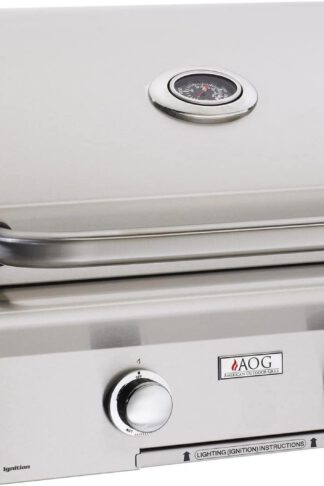 AOG American Outdoor Grill L-Series 24-Inch 2-Burner Built-in Propane Gas Grill with Rotisserie - 24PBL