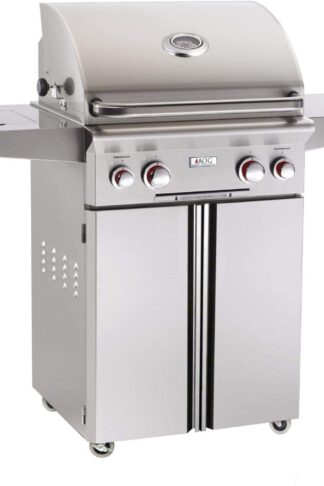 AOG American Outdoor Grill T-Series 24-Inch 2-Burner Propane Gas Grill W/Rotisserie & Single Side Burner - 24PCT