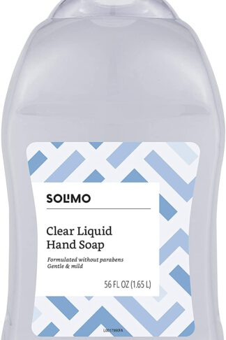 Amazon Brand - Solimo Gentle & Mild Clear Liquid Hand Soap Refill, Triclosan-free, 56 Fluid Ounce