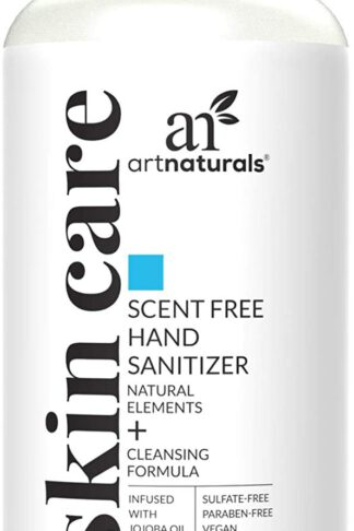 Artnaturals Hand Sanitizer Gel Alcohol Based (1 Pack x 8 Fl Oz / 220ml) Infused with Alovera Gel, Jojoba Oil & Vitamin E - Unscented Fragrance Free Sanitize