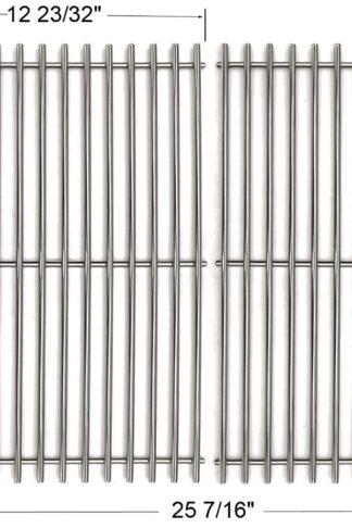 BBQ funland GS7528 Stainless Steel Cooking Grates Replacement for Weber Genesis E and S Series Gas Grills Models, 19.5 Inch, Set of 2