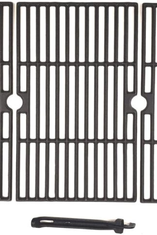 BBQSTAR BBQ Grill Grate 16-1/4-inch Matte Cast-Iron Cooking Grate Replacement with Grill Grate Lifter for Backyard Uniflame Dyna-Glo Grill Chef Better Homes & Gardens 3-Pack