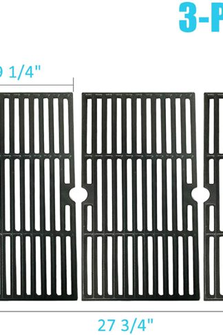 BBQration Matte Cast Iron Cooking Grid Replacement for Gas Grill Models Kenmore 146.16132110 and Kenmore 146.16133110 Set of 3