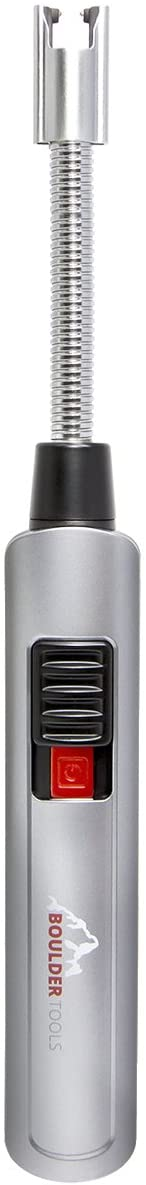 Boulder Tools Rechargeable Arc Lighter - Flameless Lighter - USB Plasma Lighter - Adjustable Extra Long Lighter for Hard to Reach Candles, BBQ Grills, Stoves, Fireplace, Campfires
