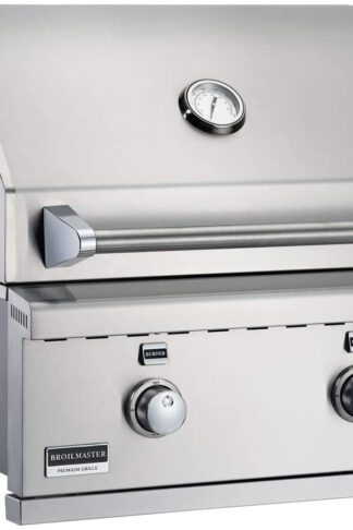 Broilmaster BSG343N 34-in Built-in Natural Gas Grill with 3 Burners, Work Lights, Rear IR Burner and LED Controls